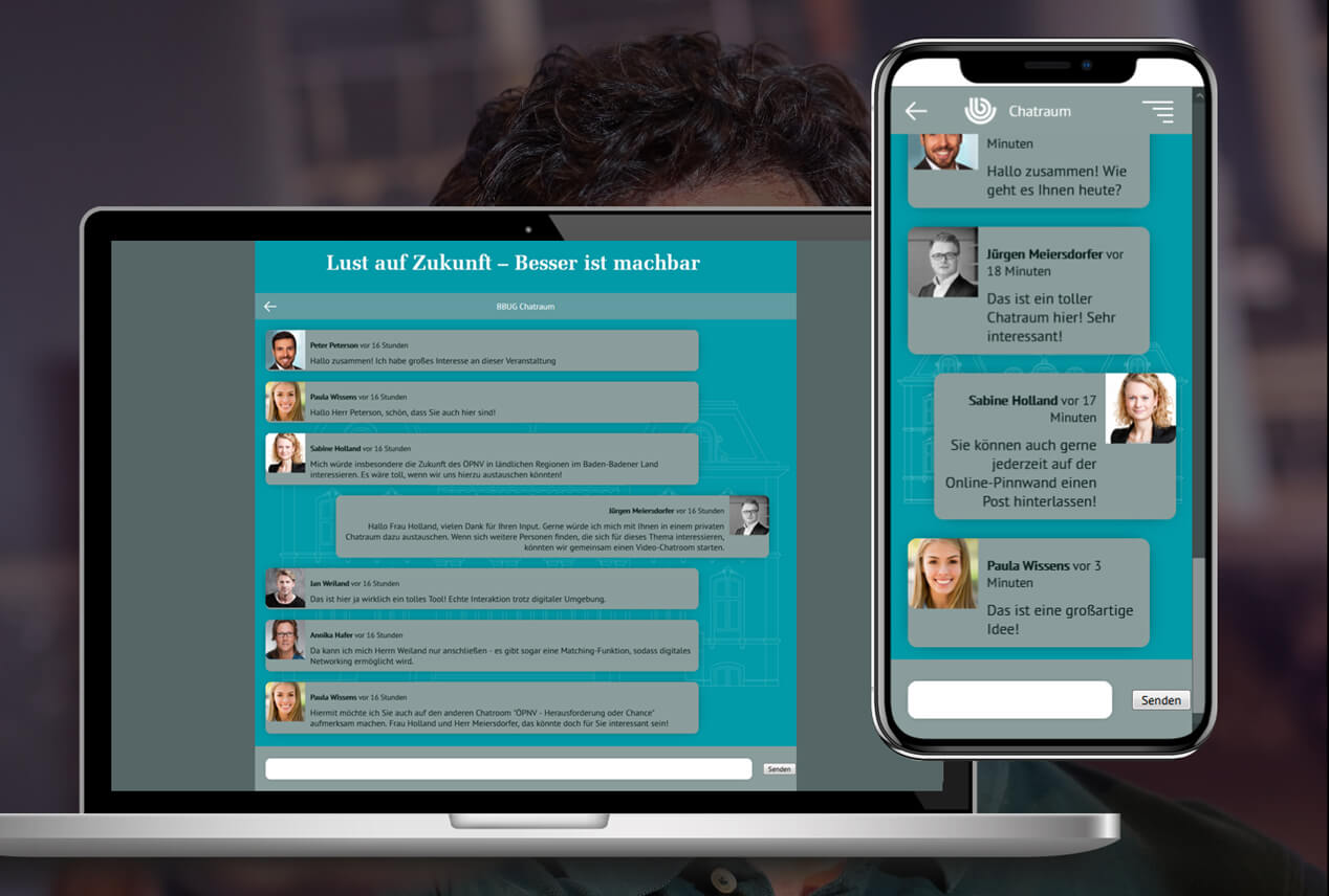 Event Agentur - On Act Chat Rooms