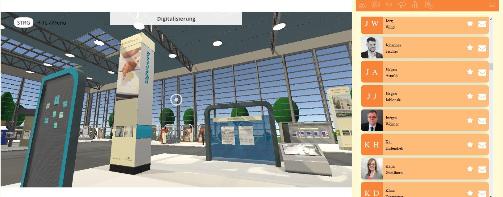 Event Agentur - Aufbau der virtuellen Messen