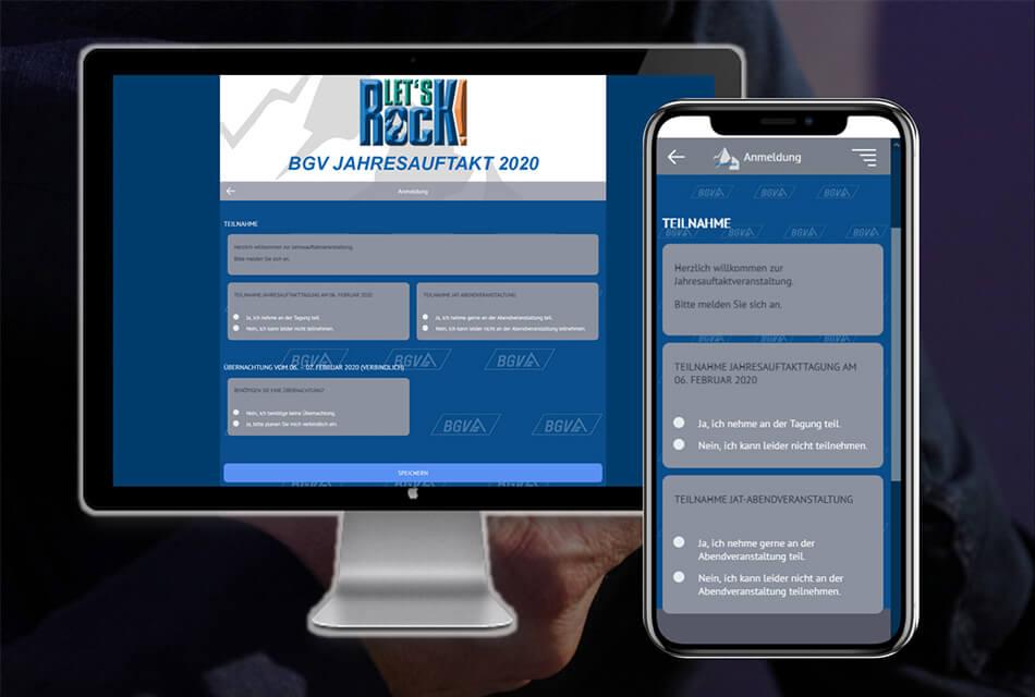 Event Agentur - Online Teilnehmer Management
